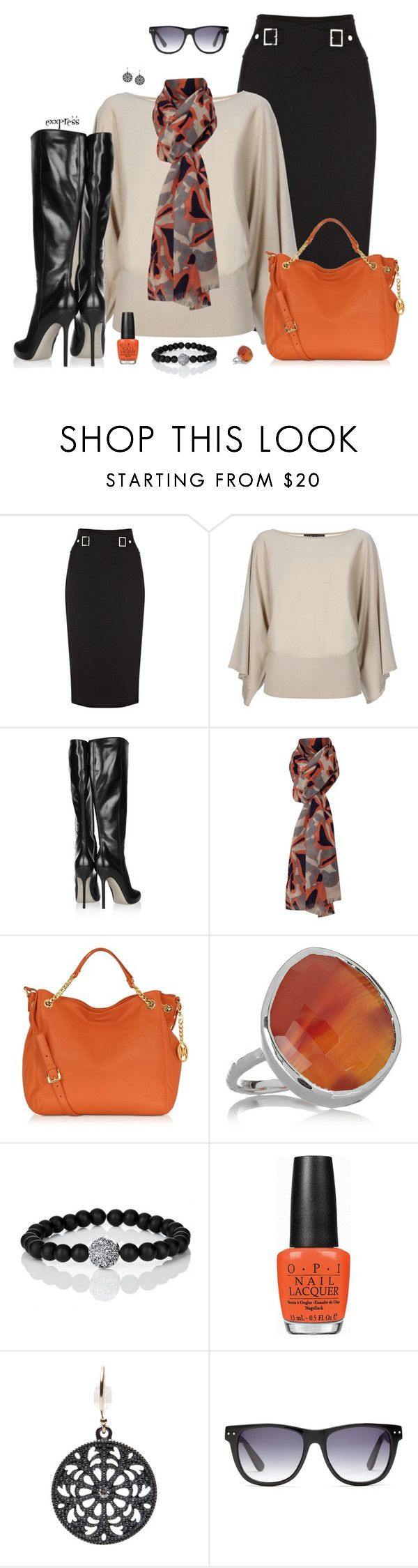 """It's not Halloween"" by exxpress ❤ liked on Polyvore featuring Karen Millen, Ralph Lauren Black Label, Sergio Rossi, Lola Rose, Michael Kors, Monica Vinader, Lola James Jewelry, OPI, mizuki and Madewell"