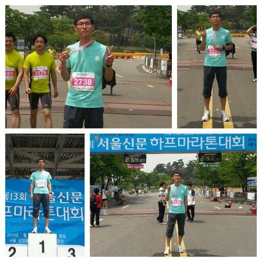 서울신문 하프 마라톤 완주 날씨가 너무 더워 오늘은 기록보다 완주 목표 #mararhon #seoul #half #run #runing #instagram #facebook