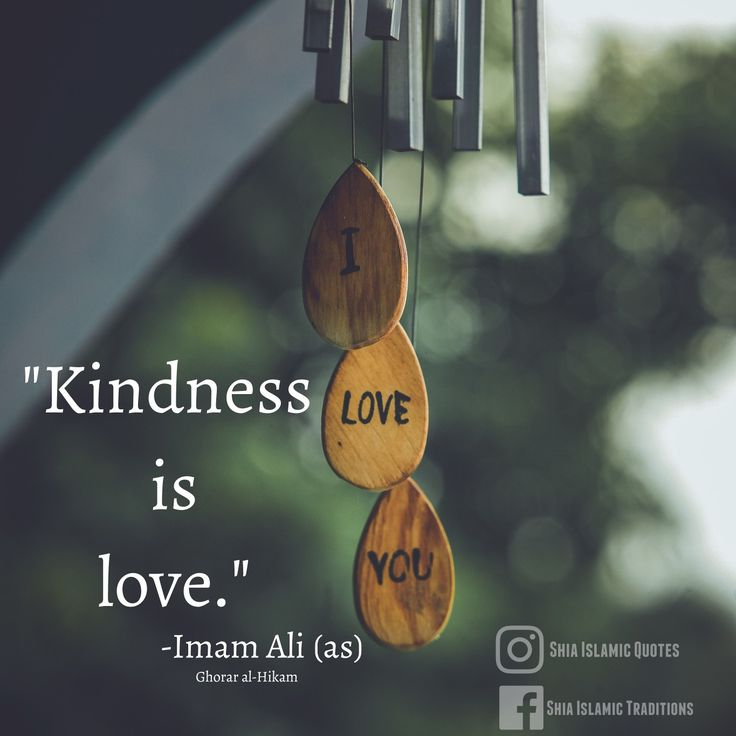 """Kindness is love """"-Imam Ali ( a.s )"""