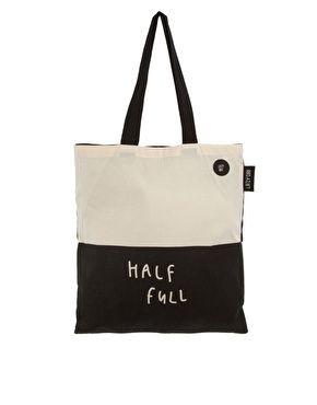 Vergrößern Lazy Oaf – Glass Half Empty Half Full – Shopper-Tasche