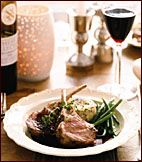 Herb-Roasted Rack of Lamb with Smoky Cabernet Sauce Recipe on Food & Wine