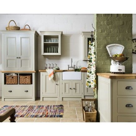 Harvest painted solid wood kitchen www.creamerykitchens.co.uk
