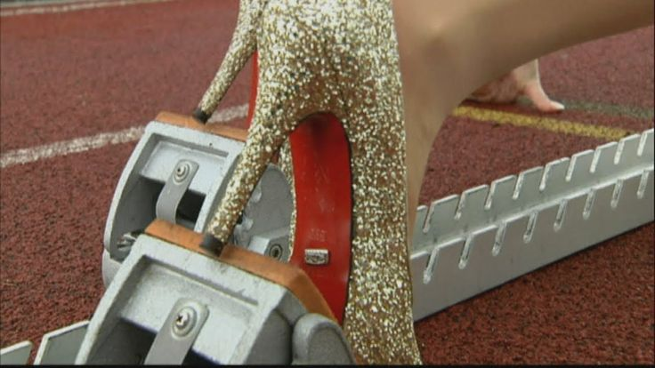 Fastest 100m in high heels in Guinness World Record attempthttps://pw-surplus.myshopify.com #shoes #expensiveshoes #unusual