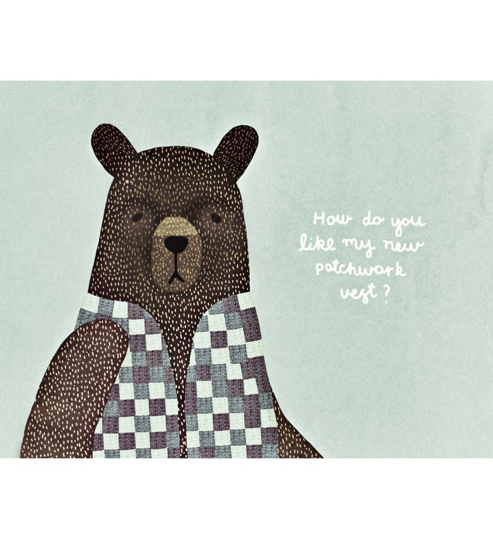 Bear Dress Up Blue Printed on Epson Archival Matte Paper  Dimensions: 30 x 40 cm  Shipped in cardboard tube. Like Michelle on facebook: https://www.facebook.com/MichelleCarlslundIllustration. Learn more about Michelle at www.michellecarlslund.com. You can buy this piece here: www.artrebels.com #artrebels #rebelkids #art