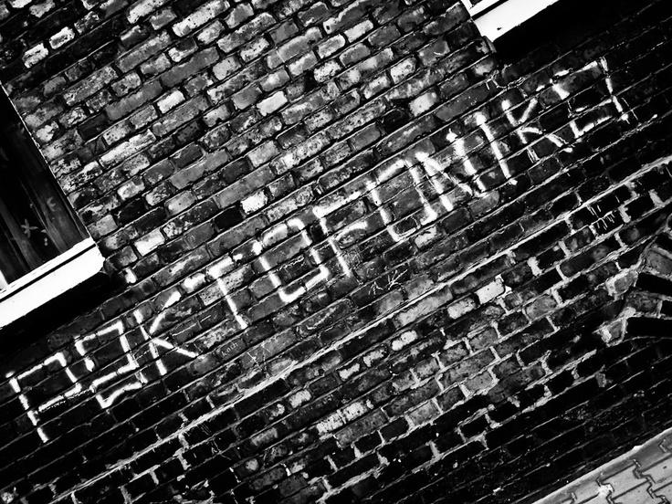 Paktofonika band graffiti on the wall of Nikiszowiec, Katowice, Poland
