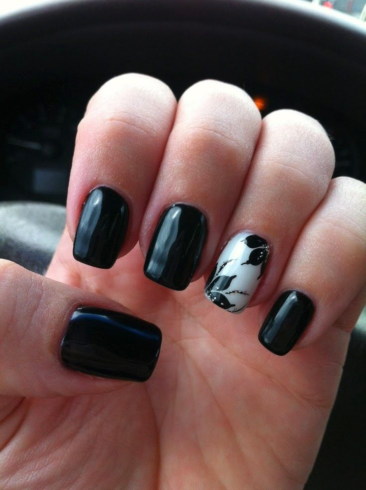 Black Gel Nails With One Silver Glitter Nail: Best 25+ White Gel Nails Ideas On Pinterest