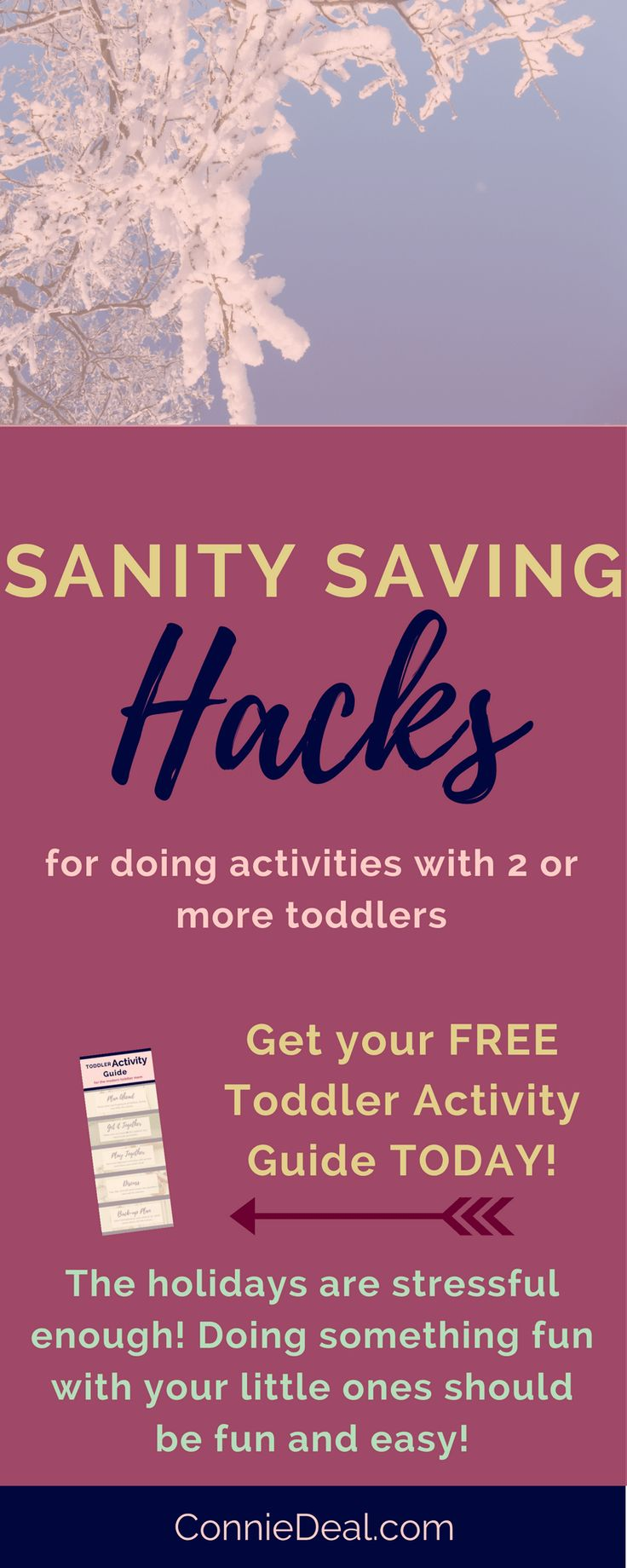 Not sure how to easily go about doing activities with two toddlers? Grab this FREE activity guide full of strategies and tips you can use NOW to make it easier to do art, science, cooking, crafts, etc. with your two little ones, from Lessons and Learning for Littles. #toddleractivity #toddlermom #toddlerart #toddlerscience #2u2