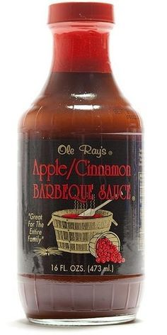 Ole Ray's Apple Cinnamon BBQ Sauce is mild & sweet with a touch of sassy spice including cinnamon, mustard & a pinch of pepper to balance the mellow tomatoes & apples for luscious flavor. This award-winning, all-natural BBQ sauce is divinely delicious on ribs, pork chops, tenderloin, brisket, grilled chicken and even shrimp. Mix with an equal part of cider vinegar for a mouthwatering marinade. Buy on sale for $6.75 here…