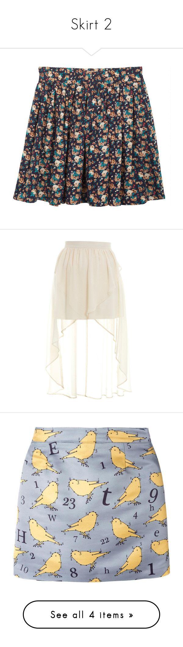 """""""Skirt 2"""" by lalittaaristha ❤ liked on Polyvore featuring skirts, bottoms, saias, faldas, navy skirt, skater skirt, patterned skater skirt, floral skater skirts, floral knee length skirt and cream"""