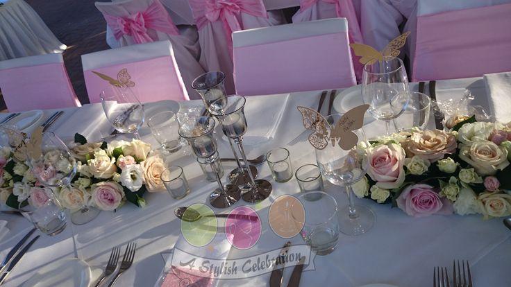 Fresh vintage roses and silver stemmed tea light holders. #vintage #roses #wedding #love #reception #bride #awesome #astylishcelebration www.astylishcelebration.com.au