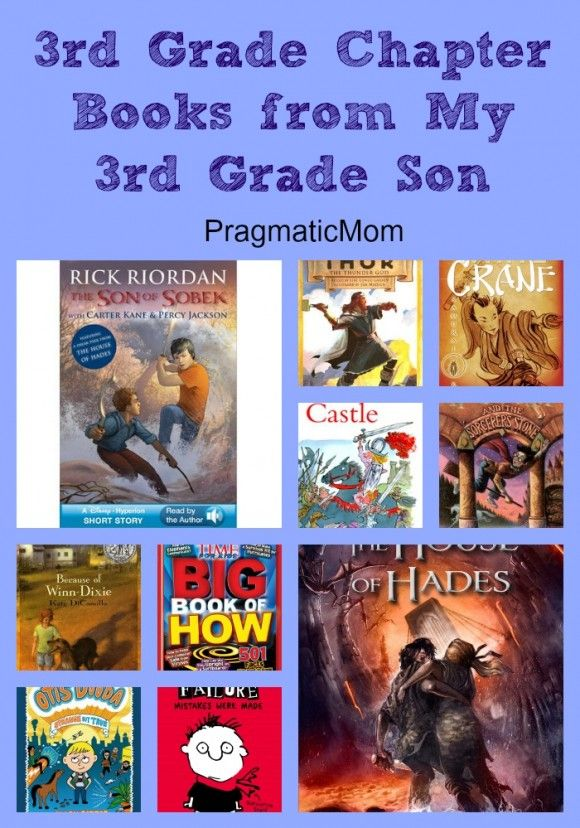 Book recommendations from 3rd grader:  3rd Grade Chapter Books from my 3rd Grade Son. He recommends and reviews these books he's read so far :: PragmaticMom