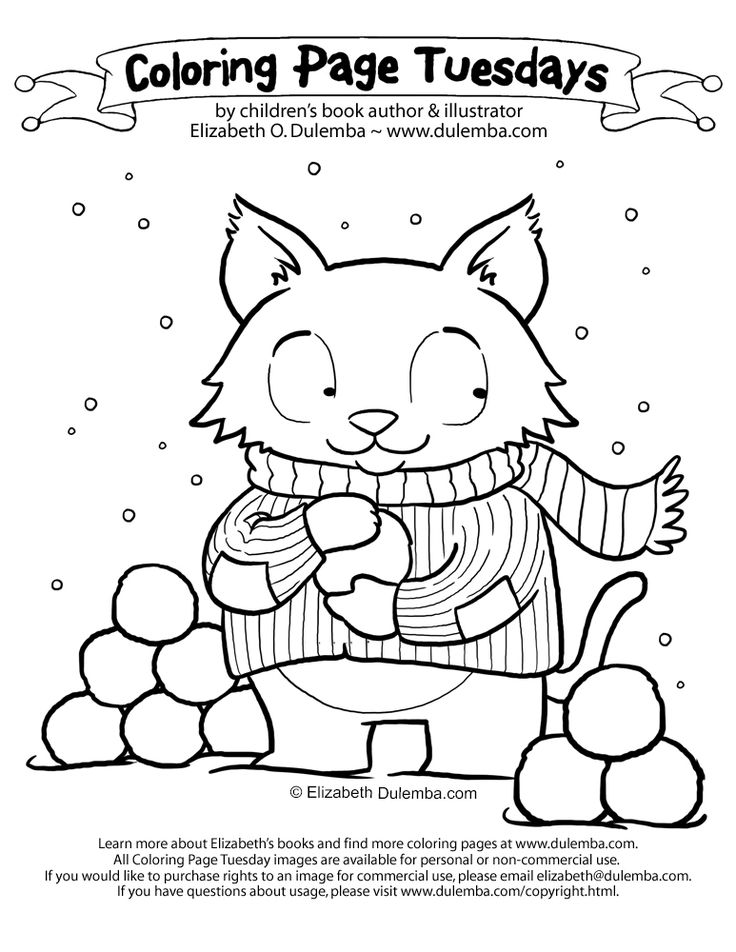 Coloring page for 2/6/2018 from Elizabeth Dulemba