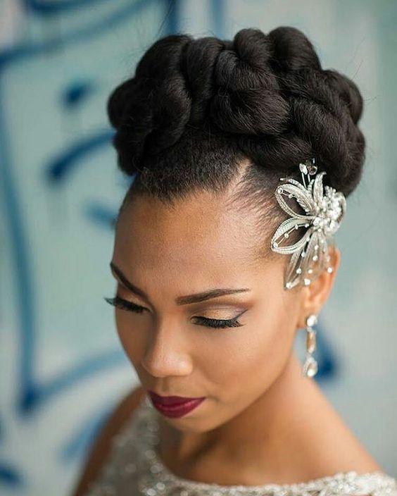 coiffures de mariée pour cheveux crépus coiffure