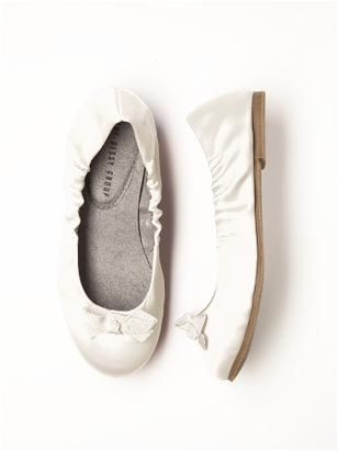 Lamour white dessy flats pearl 6