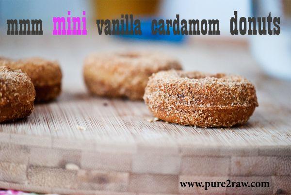 Vanilla Cardamom Mini Donuts | Donuts | Pinterest