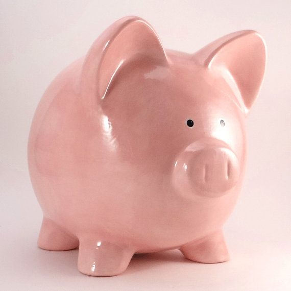 Pink Piggy Bank Personalized Piggy bank Old by ThePigPen on Etsy