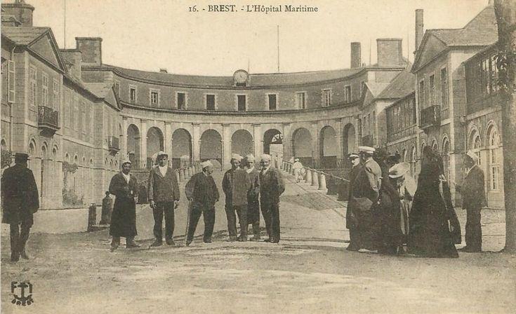 hôpitaux de rouen cartes postales | ... - Hôpital Maritime : Brest | Cartes Postales Anciennes sur CPArama