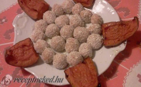 Kókuszos sütőtök golyók recept fotóval