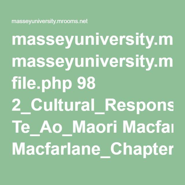 Macfarlane Reading for Inclusion and Maori Ecologies