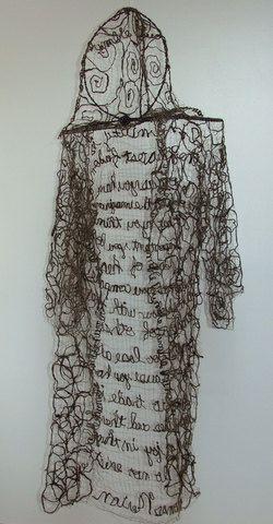 Monks Robe Humble Fiber Art Icelandic Sheep's Wool with Thomas Merton Quote. so cool!