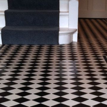 black and white tile floor. London Mosaic  Classic 70 Black and White Victorian Floor Tiles 29 best images on Pinterest Tile installation