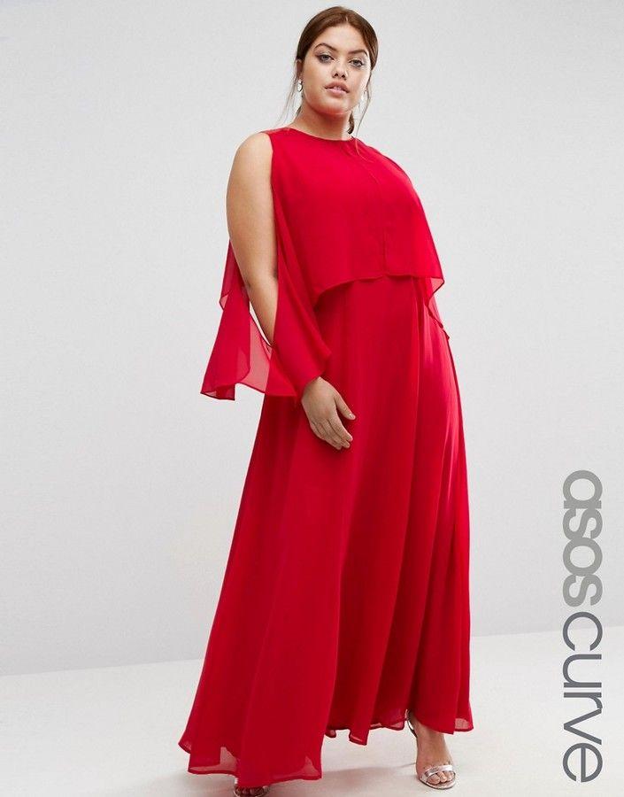 ASOS Curve ASOS CURVE Extreme Cold Shoulder Maxi Dress