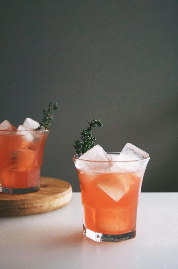 blood orange whiskey cocktails