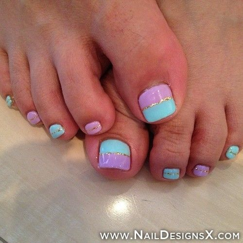 pink toe nail art » Nail Designs & Nail Art
