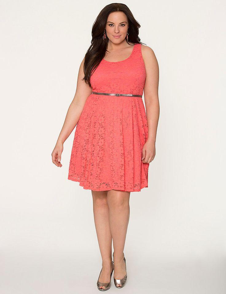 Plus size lace skater dress by lane bryant lane bryant for Lane bryant wedding dress