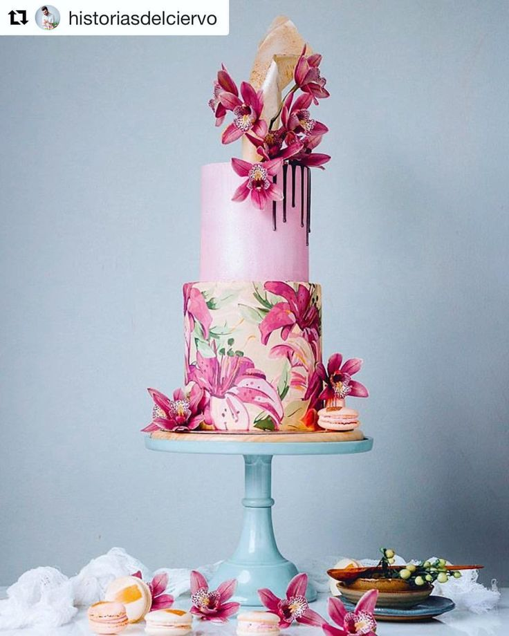 "34 Likes, 9 Comments - We Came Here To Party (@wecameheretopartyaus) on Instagram: ""This one has us mesmerised @historiasdelciervo  #birthdaycake #floralcake #florals #cakeart"""