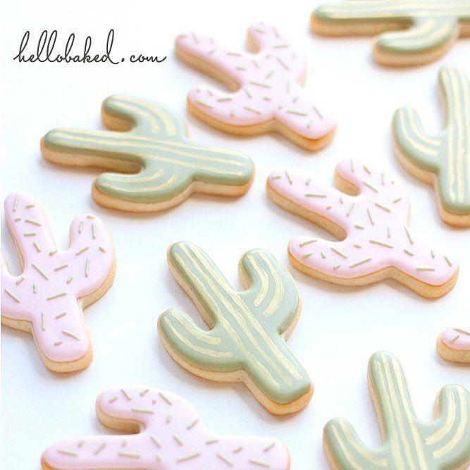 little pastel cactus cookies // Hello baked