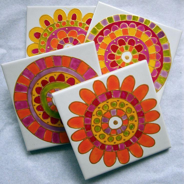 best 20 paint ceramic tiles ideas on pinterest. Black Bedroom Furniture Sets. Home Design Ideas