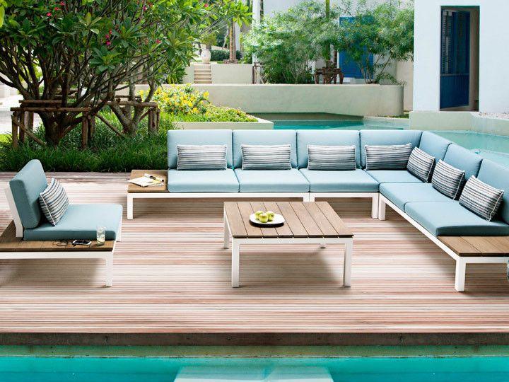 Pebble Beach Lounge Applebee Alu Wei Stoff Ocean Garten Gartenmobel Gartensofa