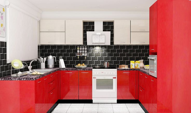 U Shaped Kitchen Cabinets in Bangalore