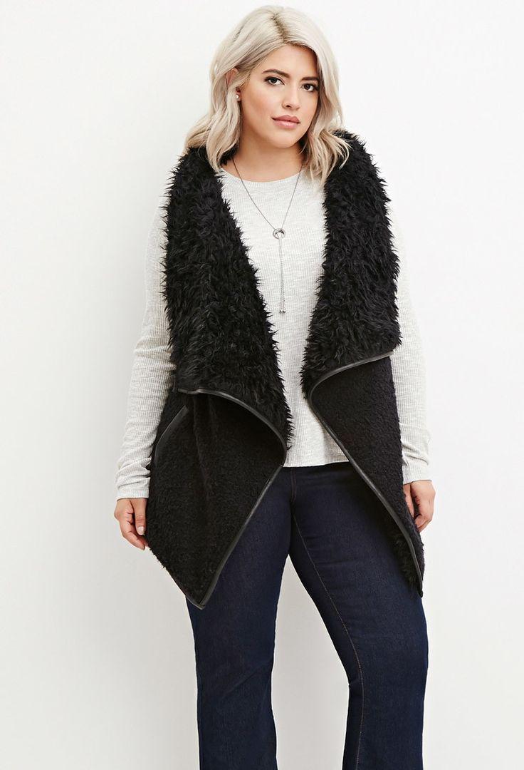 Plus Size Faux Fur Vest | Forever 21 PLUS - 2000141392