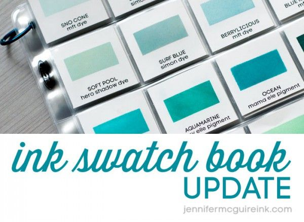 Ink Swatch Book Free Downloads by Jennifer McGuire Ink