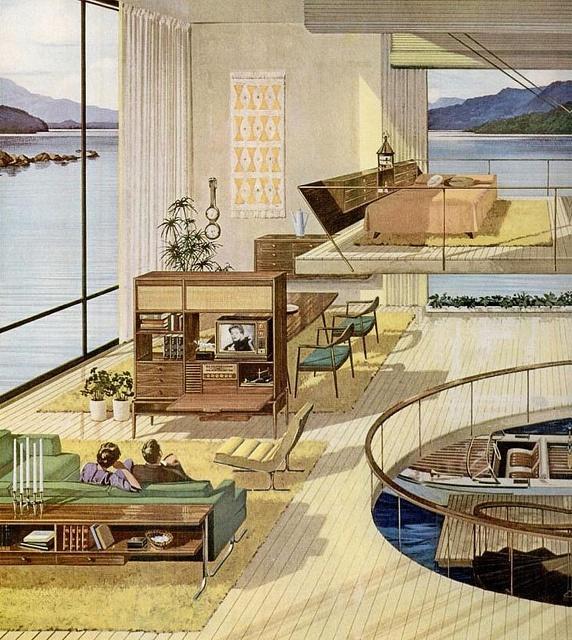 My dream home! Mid Century Motorola ad