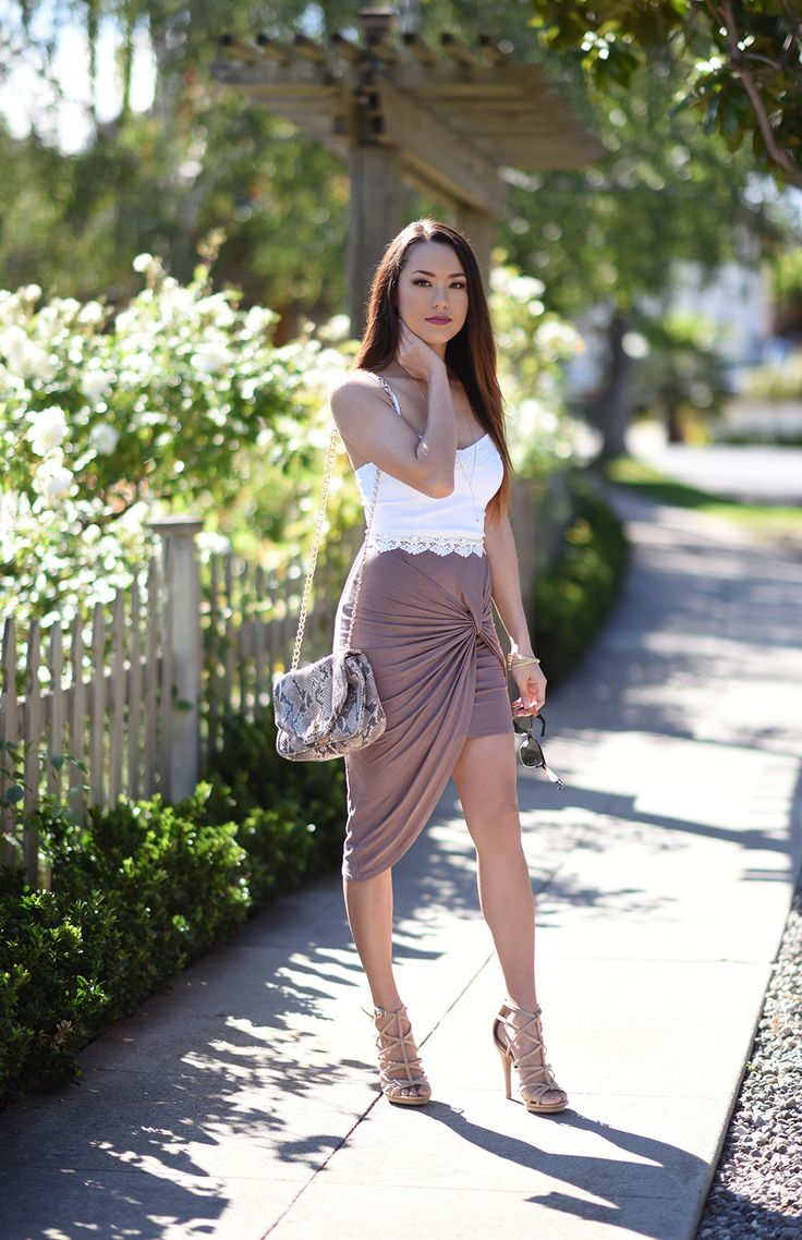 Charlotte Russe top, skirt and heels. Hapa Time outfit. Beauty on High Heels #Fashion