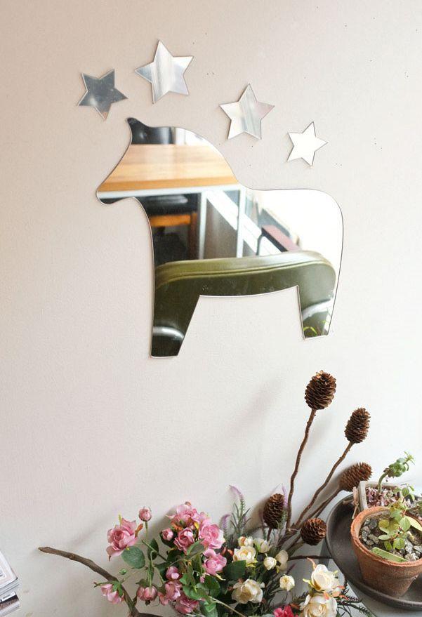 [바보사랑] 달라호스 아크릴 거울 /말/별/어린이/거울/안전거울/벽거울/데코/소품/장식/인테리어소품/Horse/Star/children/Mirror/wall/decor/Accessories/Decoration/Interior
