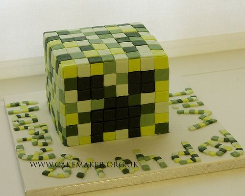 Minecraft Cake...Saige, you could make this for the boys!