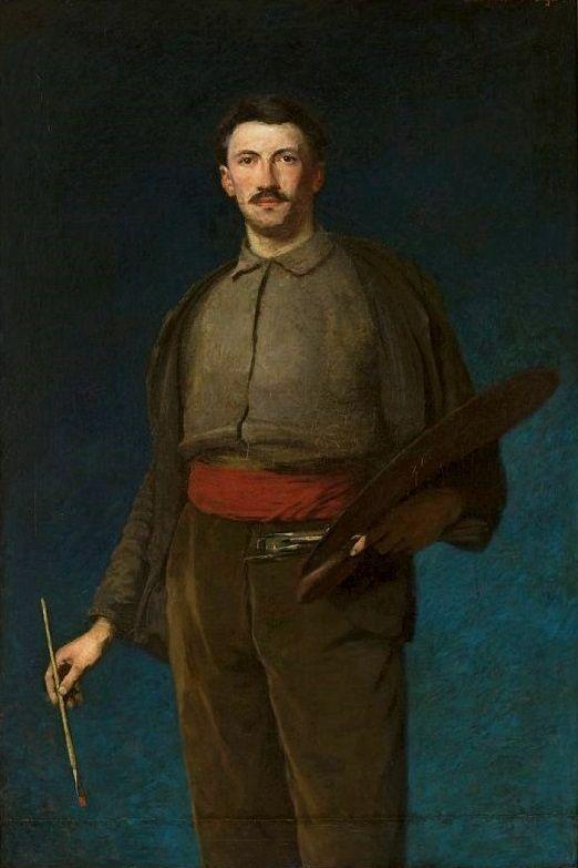 Self Portrait, 1892 by Ludwik de Laveaux (Polish 1868-1894)