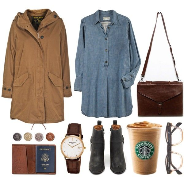 Untitled by hanaglatison on Polyvore featuring moda, Woolrich, Current/Elliott, Jeffrey Campbell, Frédérique Constant and TOMS