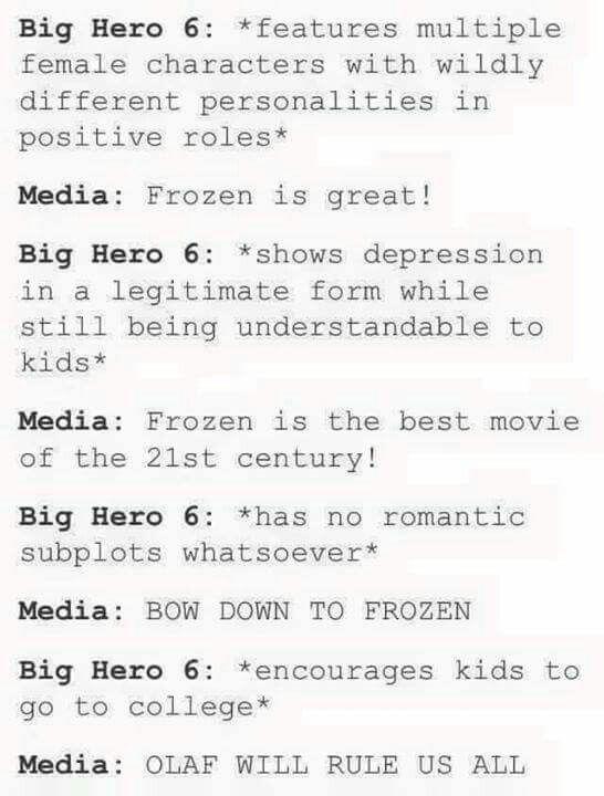 BIG HERO 6 IS WAAAAYYYY BETTER THAN FROZEN>>>> BAYMAAAAAAAAX