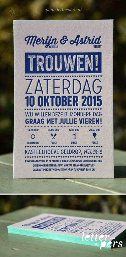 Letterpers_letterpress_trouwkaart_blauw_kleur_op_snede_mint_groen_typografisch_strak