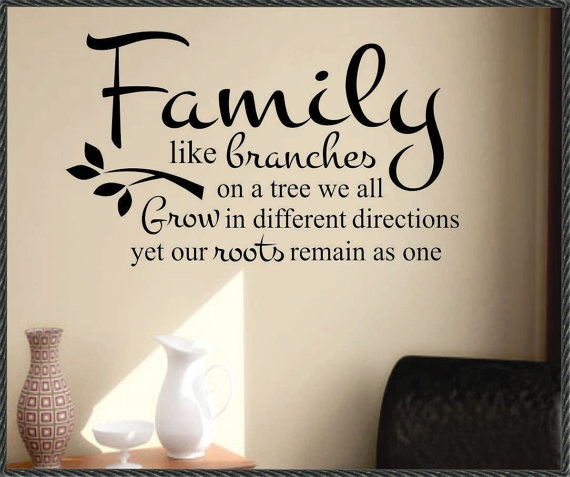 Family Branches Decal, Vinyl Wall Lettering, Vinyl Wall
