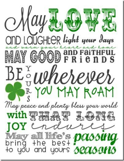 St. Patrick's Day printable - Irish Blessing Subway Art