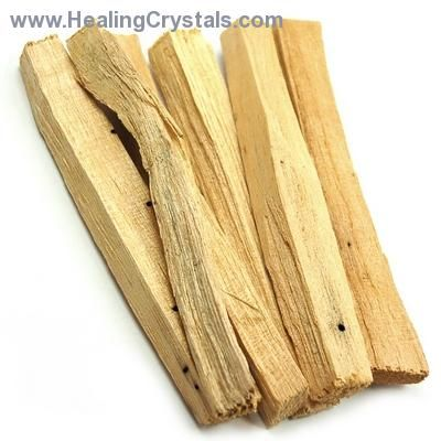 Palo Santo Incense/Smudge Sticks - Healing Crystals  These sticks can be lit alone as is and will burn for a few seconds to a minute or so and extinguish themselves, filling a space with a sweet warm fragrance.  http://www.healingcrystals.com/Palo_Santo_Incense_Smudge_Sticks.html  Code HCPIN10 = 10% discount