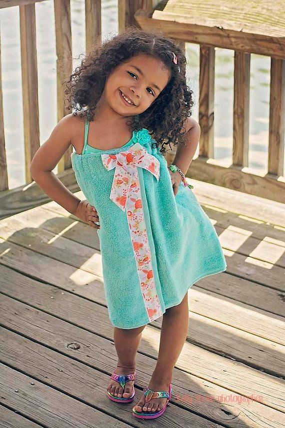 Imagine having this cute toddler towel wrap to wrap around your little girl. Perfect beach wear used for a bathing suit cover up. http://www.wrapsandmoreboutiques.com