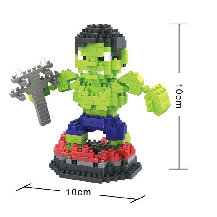BOB DIY Blocks Marvel Super hero Hulk 9529