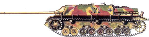 German Camouflage Jagdpanzer IV Schwere Panzer Jaeger Abteilung 655 – Western Front, 1945